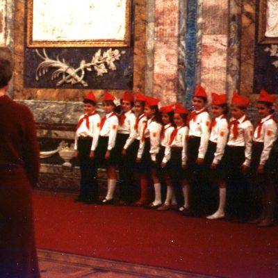 11.Leningrad. Young Pioneers in Central Lenin Museum, Khalturin Street, Leningrad 18 November 1982