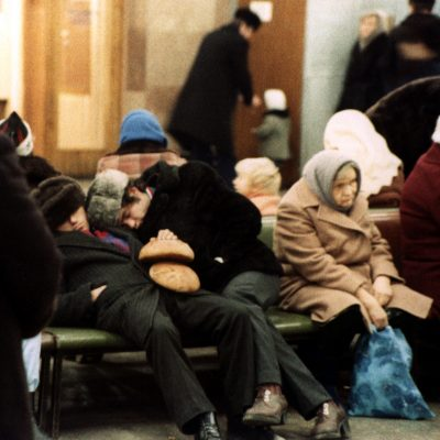27.	Bread sleeping. Waiting room Yaroslavskii Railway Station Moscow 27 Nov 82