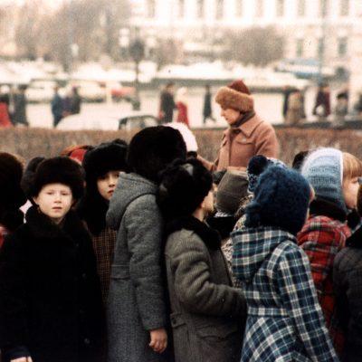 30.Schoolchildren Sverdlov Square, Moscow 28 11 1983