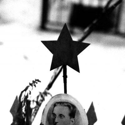 58.Grave in Alexander Nevsky Monastery in the Communist Plot. 7 December 1982