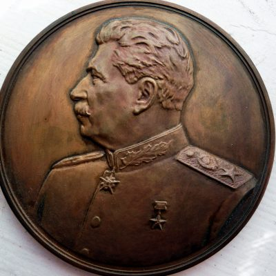 64.	Stalin medallion. Bronze