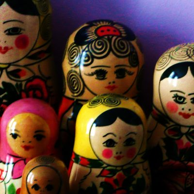 76.	Matroshka dolls.